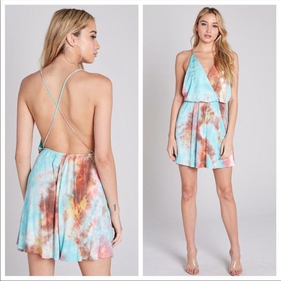 Blue Blush Dresses & Skirts - CAPTIVATING TIe-Dye Dress (Coral)